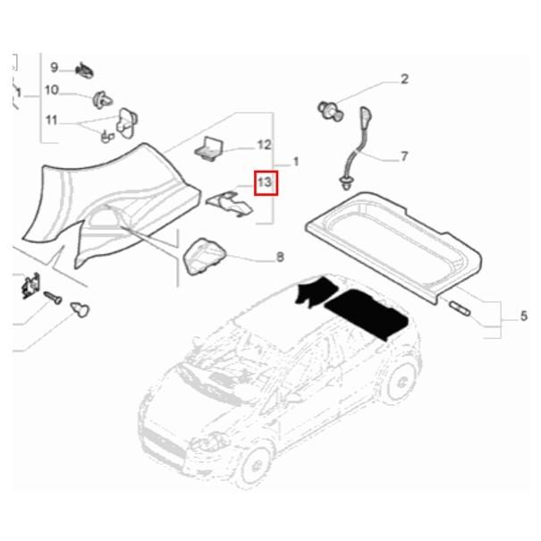 Par Suporte Fixação Tampão Fiat Punto 2008 2017 Original
