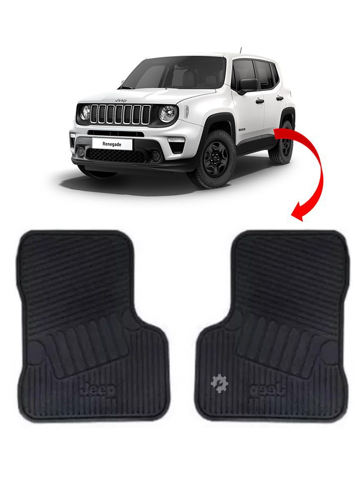 Par Tapete Borracha Traseiro Jeep Renegade 2015 2019 Original