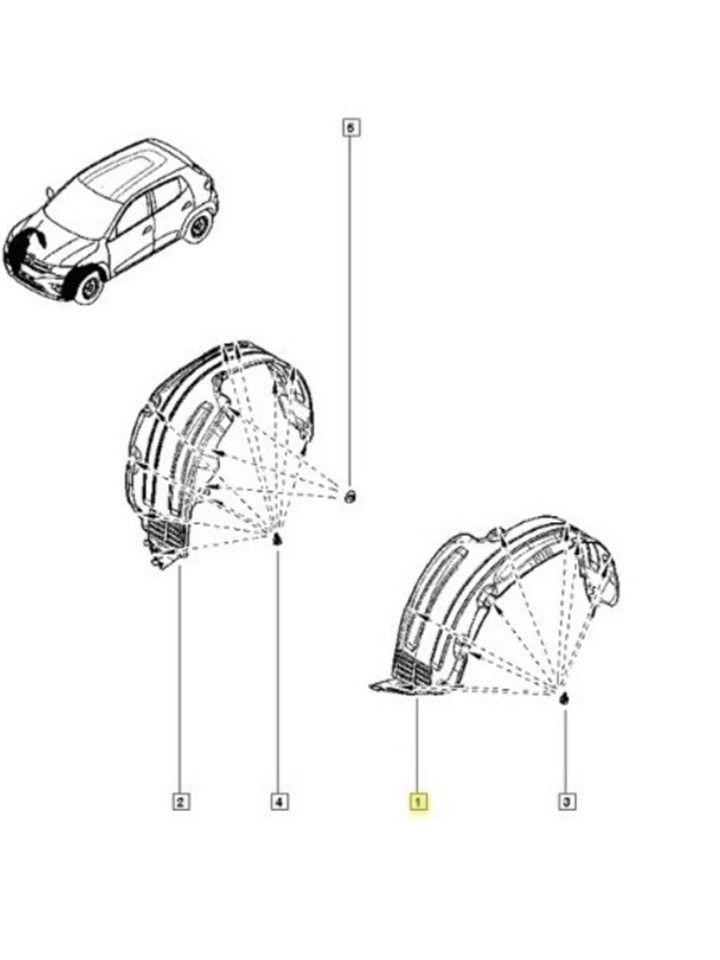Parabarro Dianteiro Esquerdo Renault Kwid 2017 2019 Original