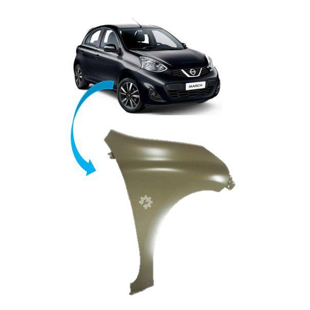 Paralama Dianteiro Direito Nissan March 2014 2018 Original