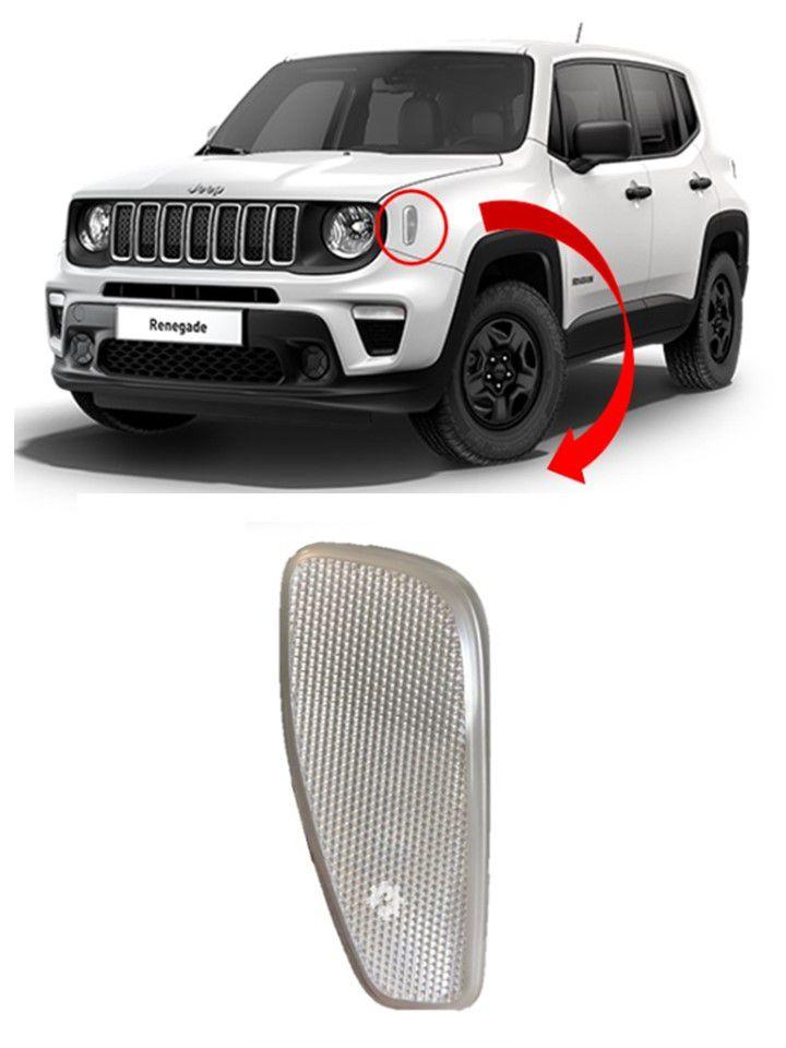Refletor Dianteiro Esquerdo Jeep Renegade 2017 2018 2019 Original