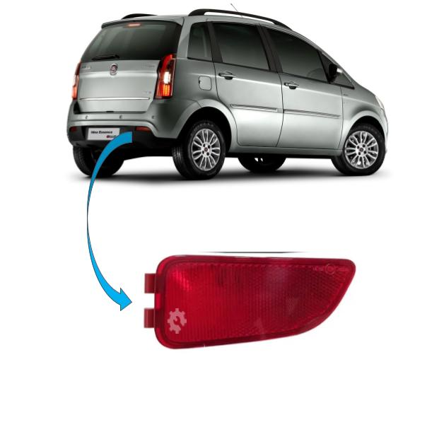 Refletor Parachoque Traseiro Direito Fiat Idea 2011 2016