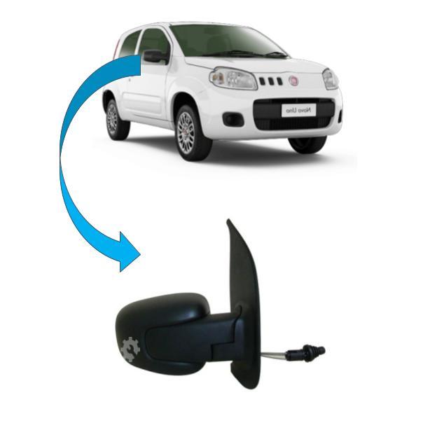 Retrovisor Manual  Direito Fiat Uno 2011 2015 Original