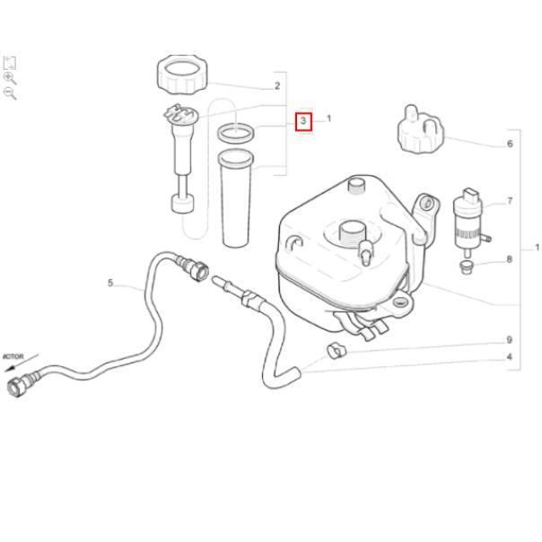 Sensor Nível Boia Partido Frio Doblo Fiorino Palio Uno Original