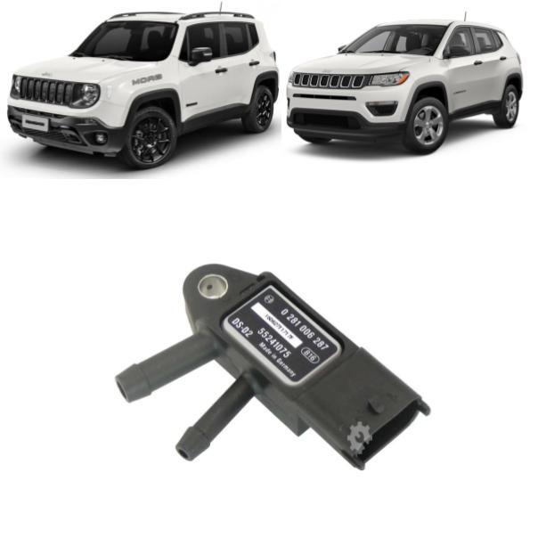 Sensor Pressão Escapamento Fiat Compass Renegade 2016 2021