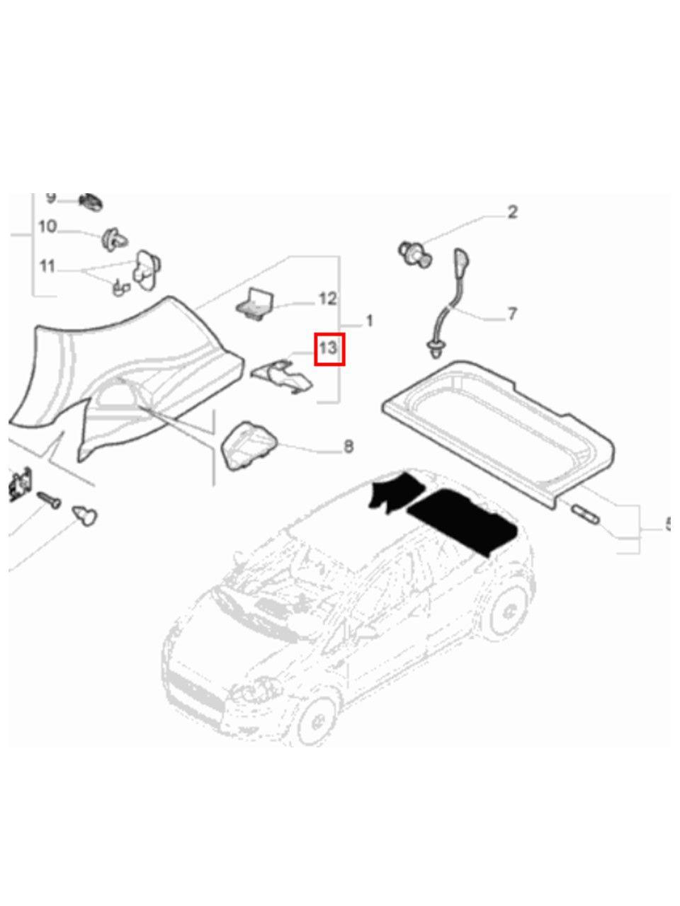 Suporte Fixação Esquerdo Tampão Fiat Punto 2008 2017 Original