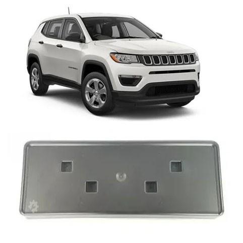 Suporte Fixação Placa Jeep Compass 2015 2016 2017 2018 2019