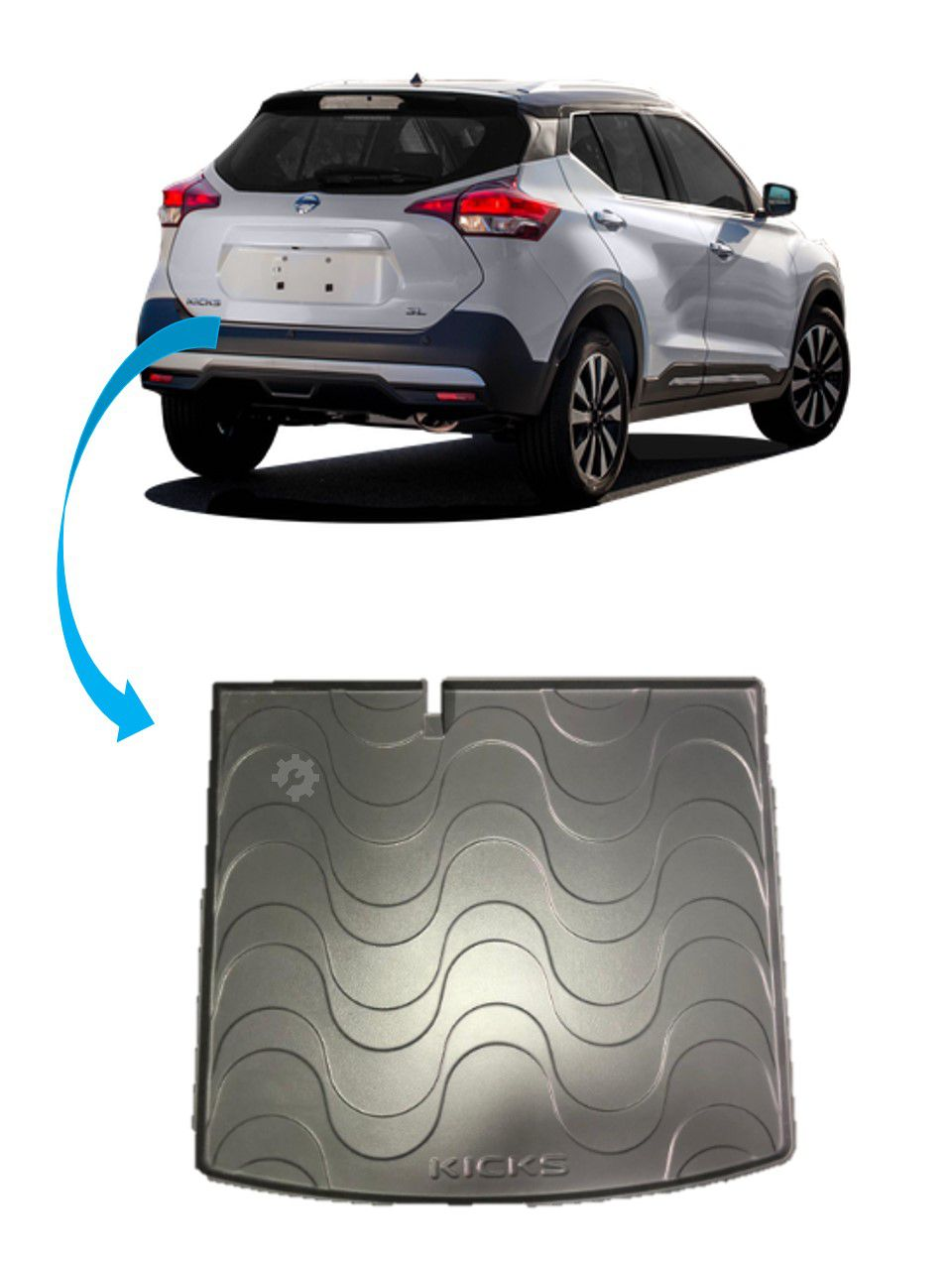 Tapete Bandeja Protetor Porta Malas Nissan Kicks Original