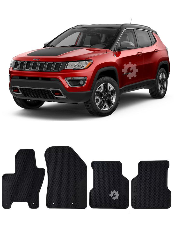 Tapete Borracha Original Mopar Jeep Compass 2016 2017 2018
