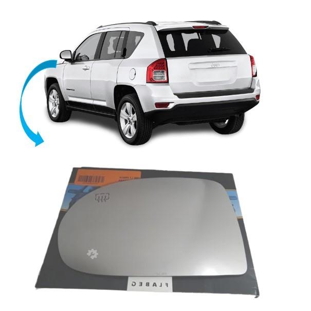 Vidro Espelho Esquerdo Retrovisor Jeep Compass 13 2014 2015