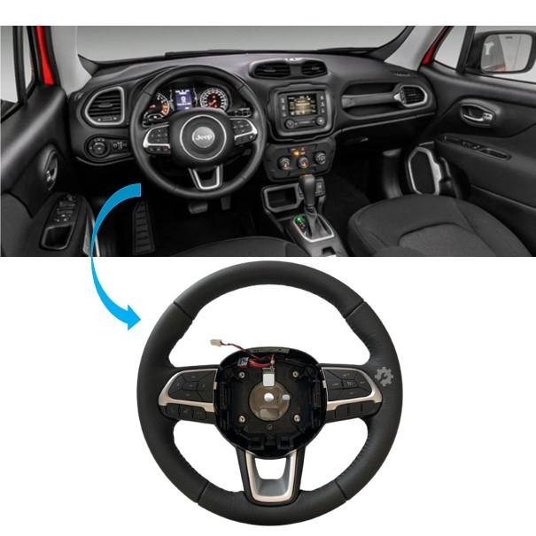Volante Direção Comando Som Chicote Prata Jeep Renegade 2015 2018