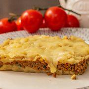 Escondidinho de batata-doce de carne moída s/ lactose