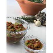 Marinada de legumes e cogumelos