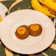 Muffins de Banana com Amendoim