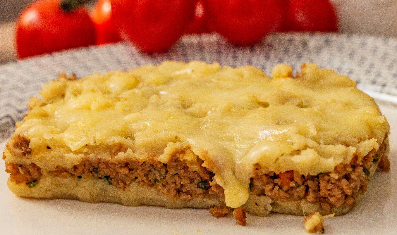 Escondidinho de Batata Doce de Carne Moída s/ Lactose