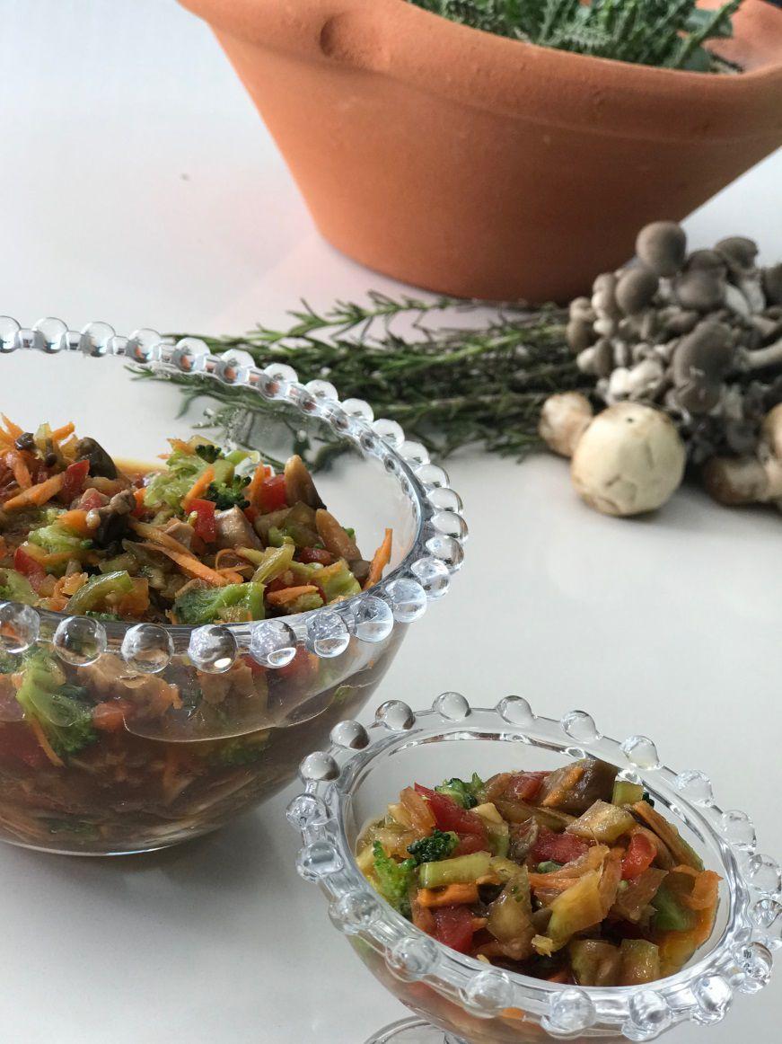 Marinada de Legumes e Cogumelo