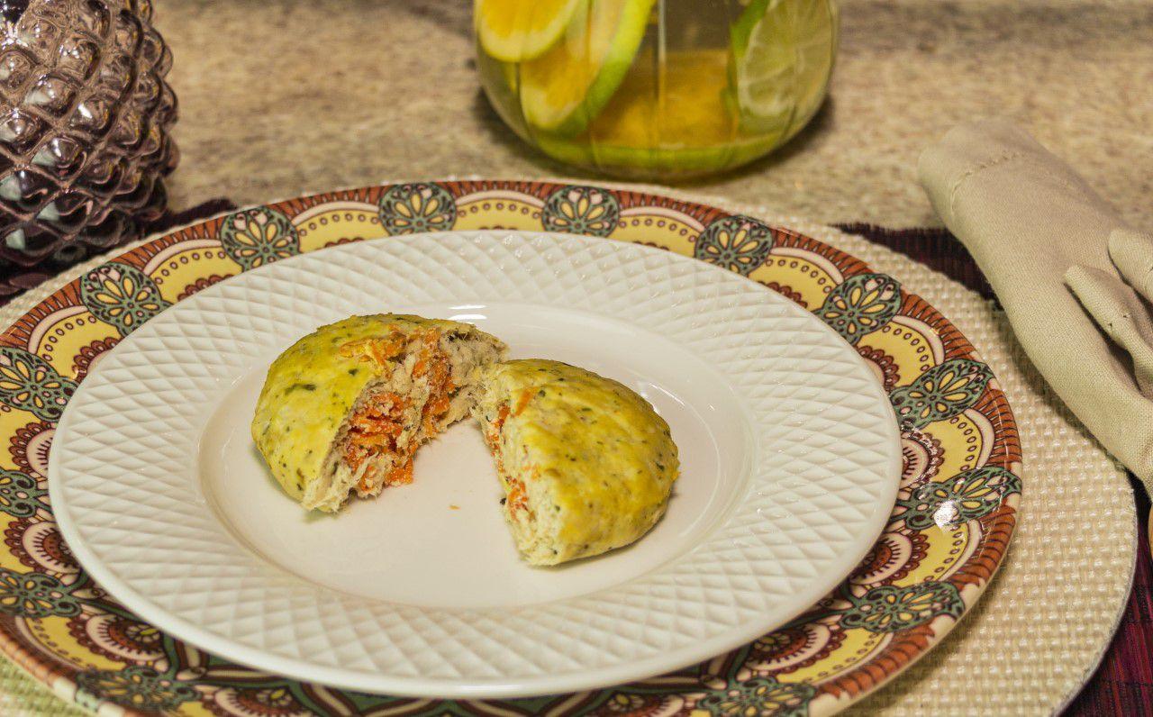 Salgado Proteico de Cenoura e Ricota