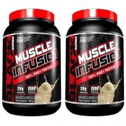 COMBO 2 MUSCLE INFUSION 100% WHEY PROTEIN 907G (2LB) - NUTREX