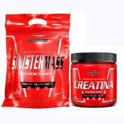 kIT GANHO DE MASSA SINISTERMASS 3KG + CREATINA 300G - INTEGRALMEDICA