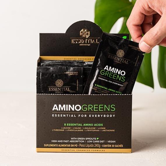 AMINO GREENS 240g - Box c/ 30 sachês de 8g
