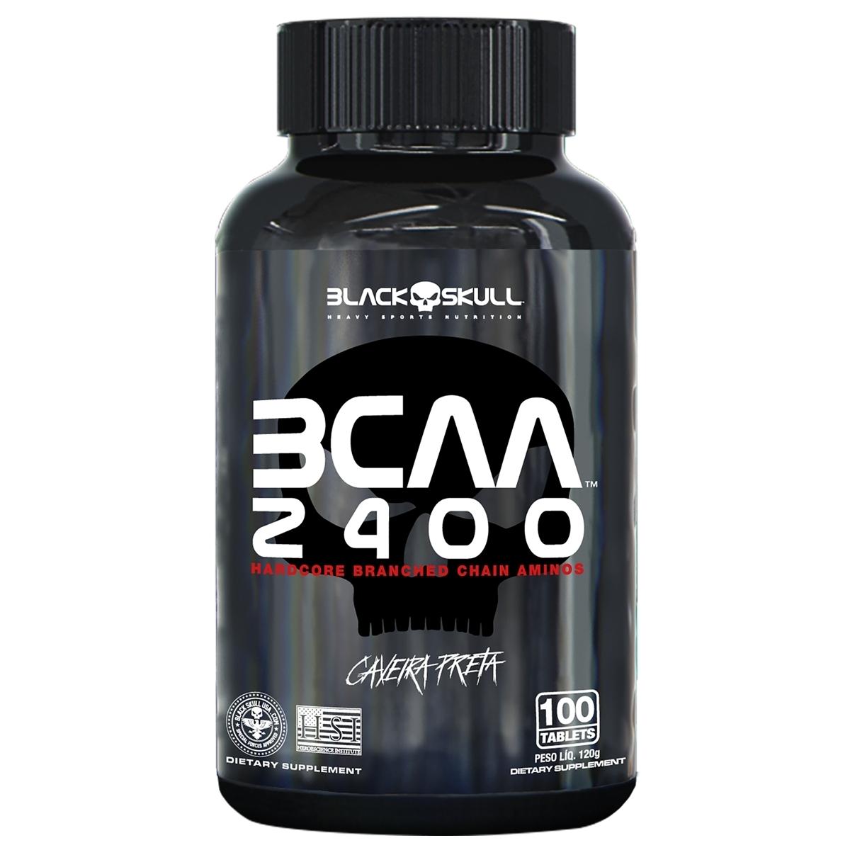 BCAA 2400 - AMINOÁCIDOS - 100 TABLETS - BLACK SKULL