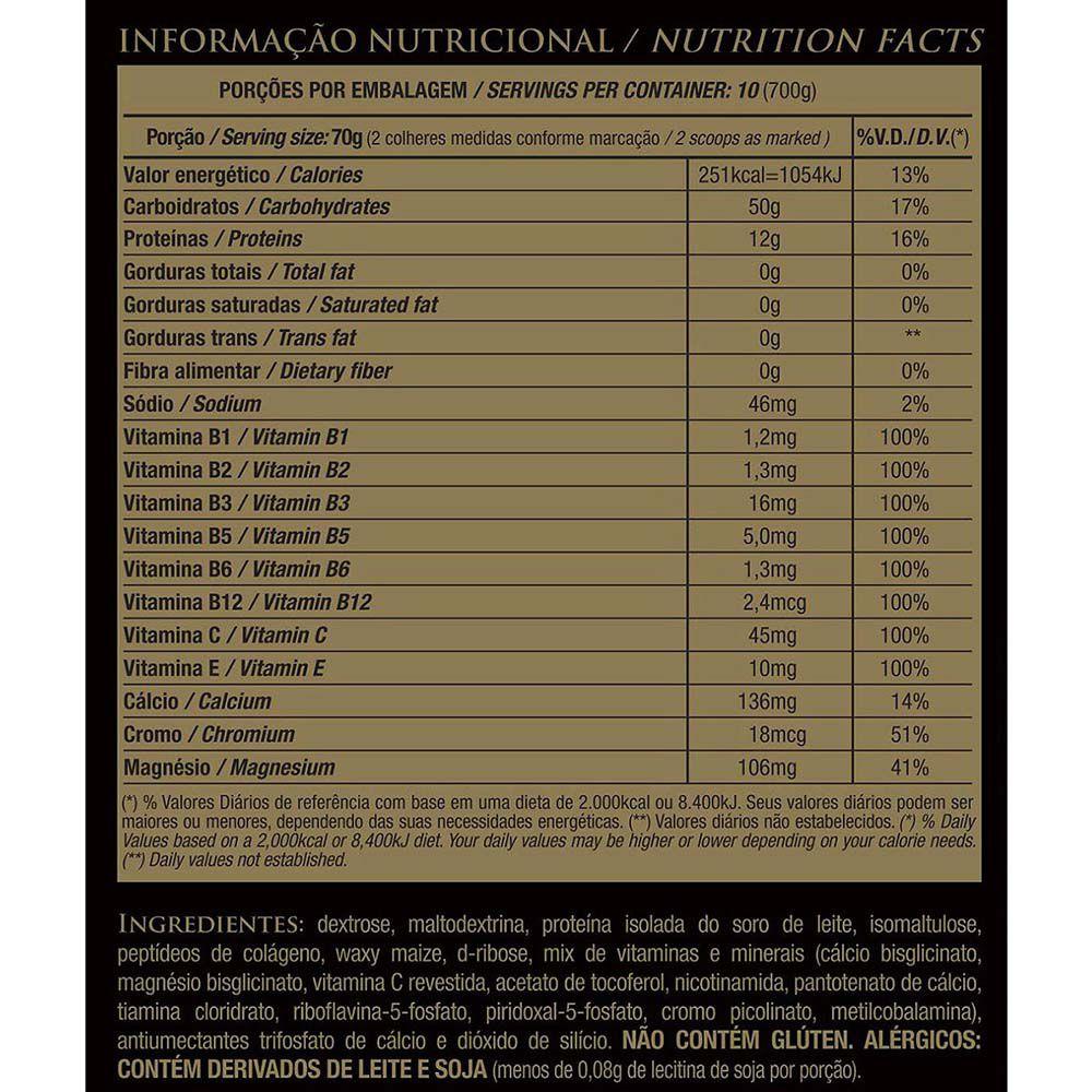 CARBPRO 4:1 RECOVERY SEM SABOR 700G - ESSENTIAL NUTRITION