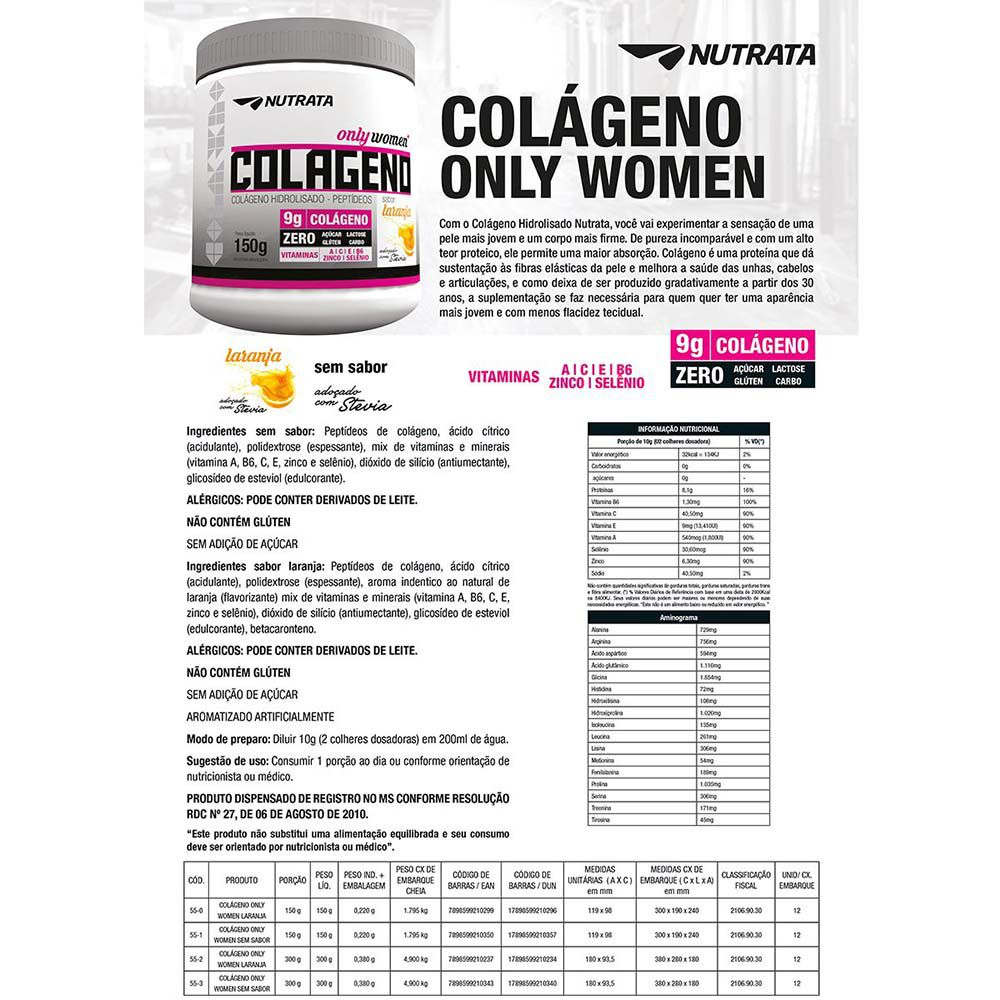 COLAGENO ONLY WOMEN 300G -  NUTRATA