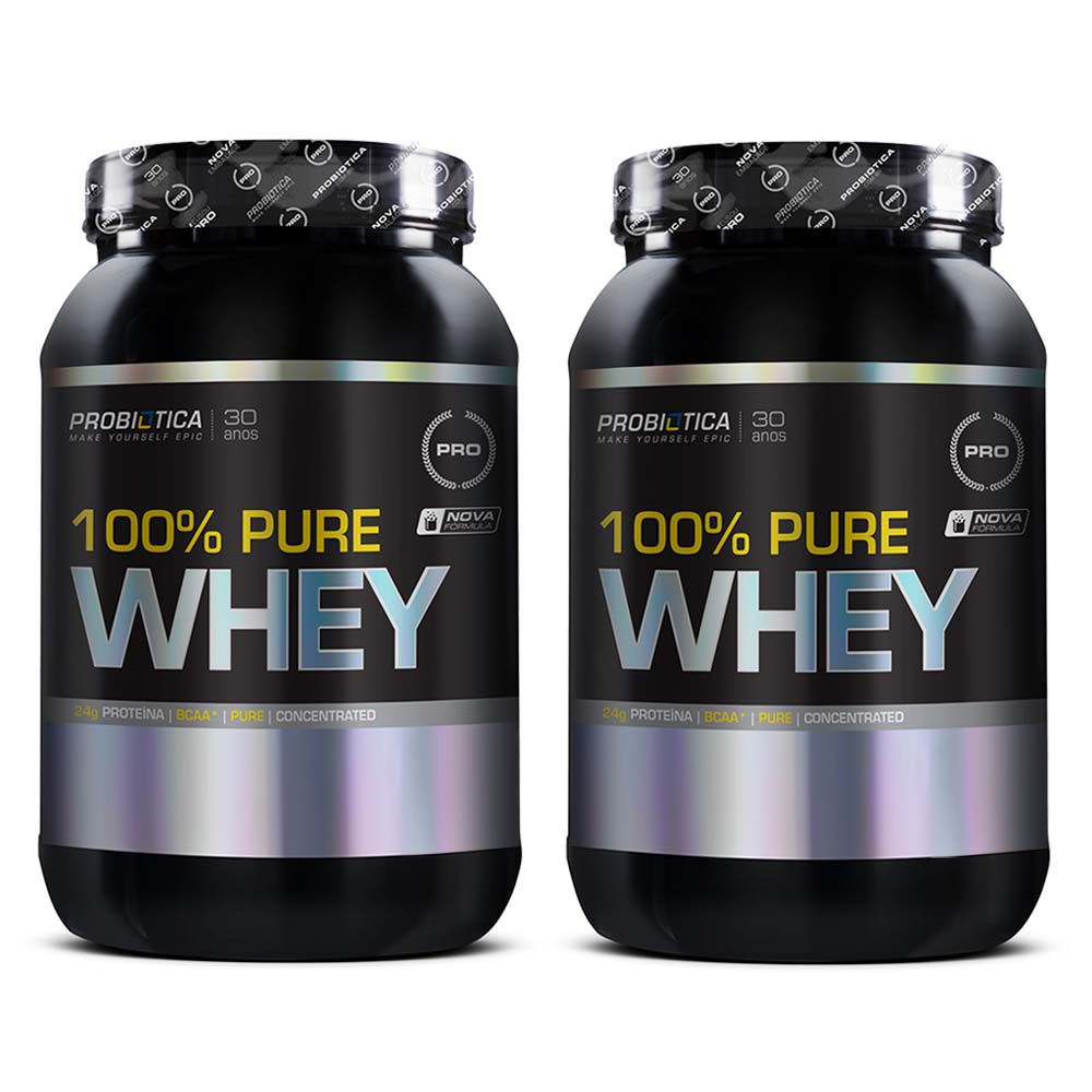 COMBO 2 WHEY 100% PURE BAUNILHA 900G - PROBIOTICA