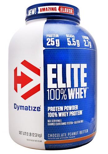 ELITE 100% WHEY  2,3KG (5LB) DYMATIZE sabor Chocolate peanut butter