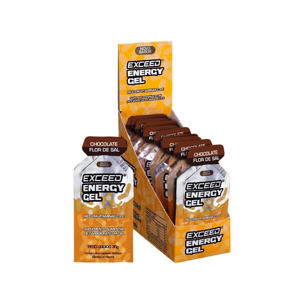 EXCEED 10 UNI ENERGY GEL 300G CHOCOLATE FLOR DE SAL (10X30G) - ADVANCED NUTRITION