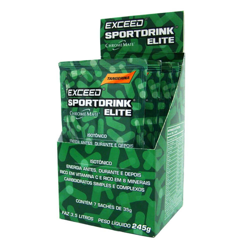 EXCEED 7 UNI SPORT DRINK ELITE TANGERINA 245G (7X35G) - Advanced Nutrition