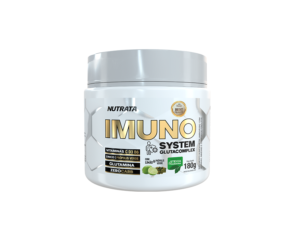 IMUNO SYSTEM GLUTACOMPLEX LIMÃO & PRÓPOLIS VERDE 180G - NUTRATA