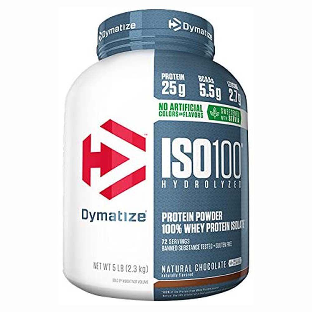 WHEY ISO 100 STEVIA NATURAL CHOCOLATE 2.3KG (5LBS) - DYMATIZE