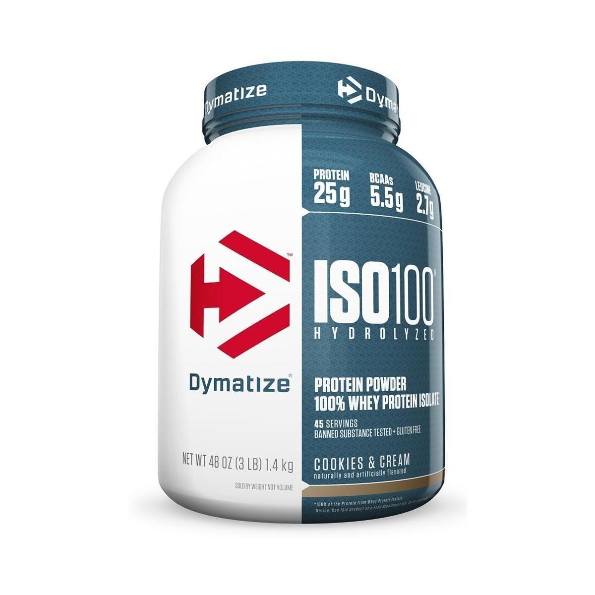 ISO 100 WHEY PROTEIN ISOLADO HYDROLYZED 1,4KG (3 LBS) - DYMATIZE