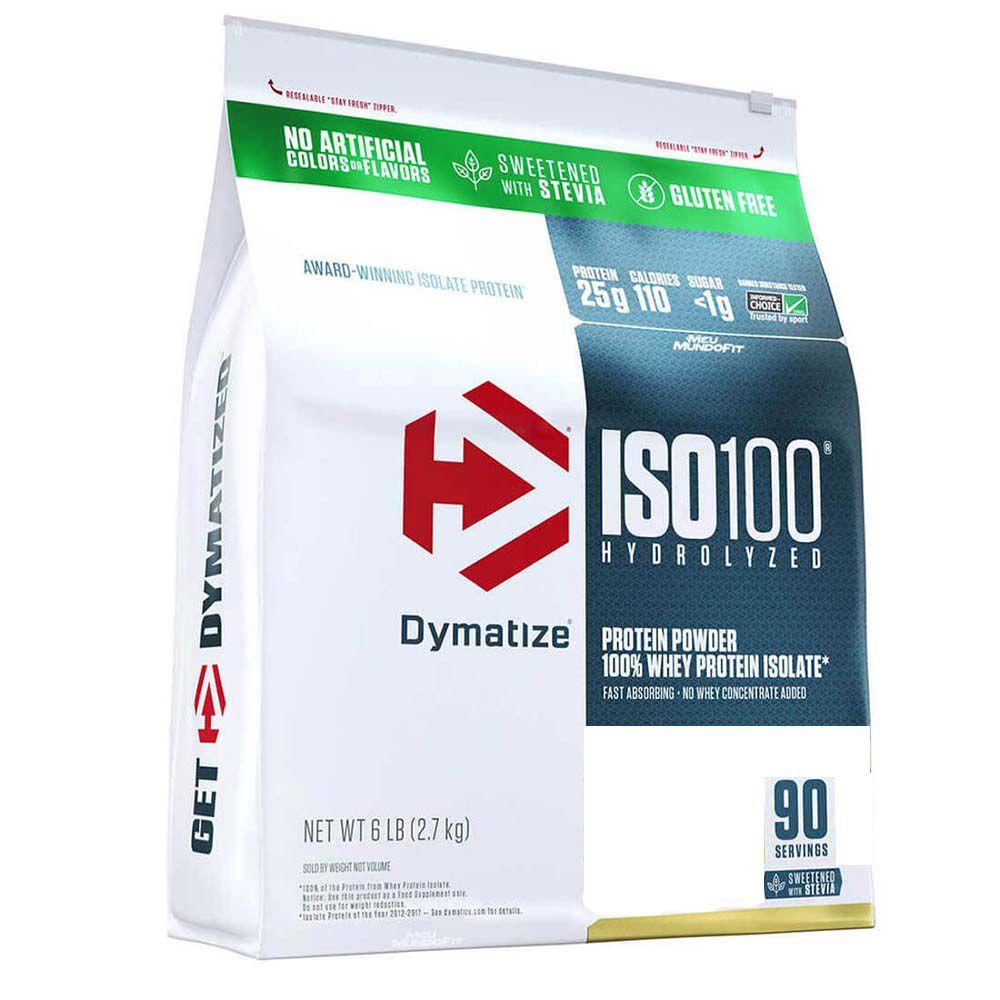ISO 100 WHEY PROTEIN ISOLADO HYDROLYZED STEVIA 2,7KG (6LBS) - DYMATIZE