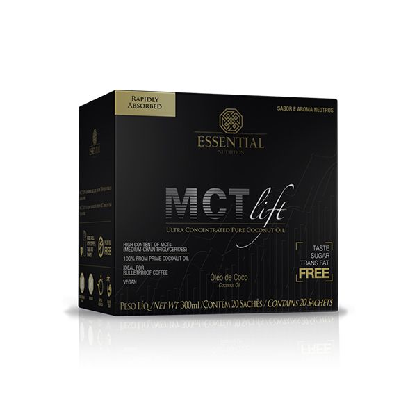 MCTLIFT 300ML (20 SACHÊS) - ESSENTIAL NUTRITION