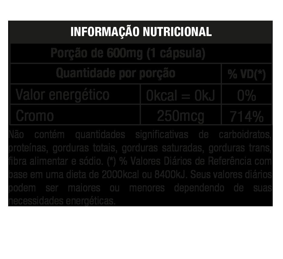 PICOLINATO DE CROMO 100% 120 CAPS - NUTRATA