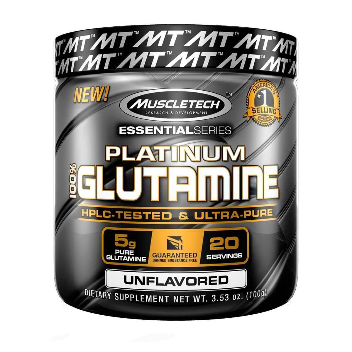 PLATINUM 100% GLUTAMINA SEM SABOR 100G - MUSCLETECH