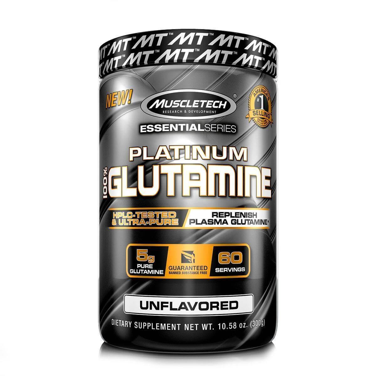 PLATINUM 100% GLUTAMINA SEM SABOR 300G - MUSCLETECH