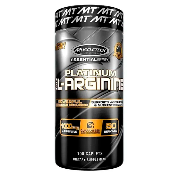 PLATINUM 100% L-ARGININA C/100TAB - MUSCLETECH