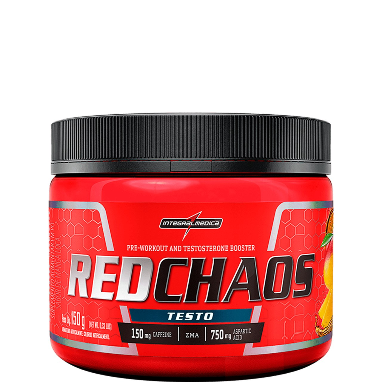 RED CHAOS TESTO PRÉ TREINO 150G - INTEGRALMEDICA