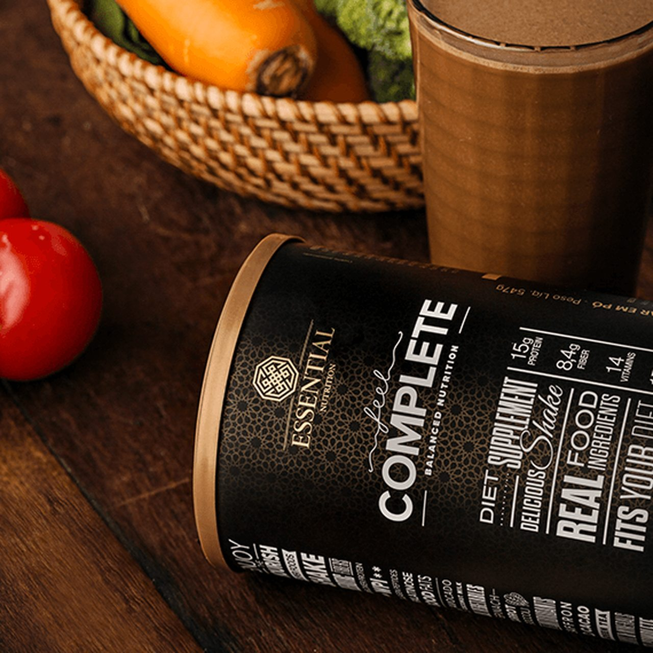 SHAKE FEEL COMPLETE SABOR CHOCOLATE 547G - ESSENTIAL NUTRITION