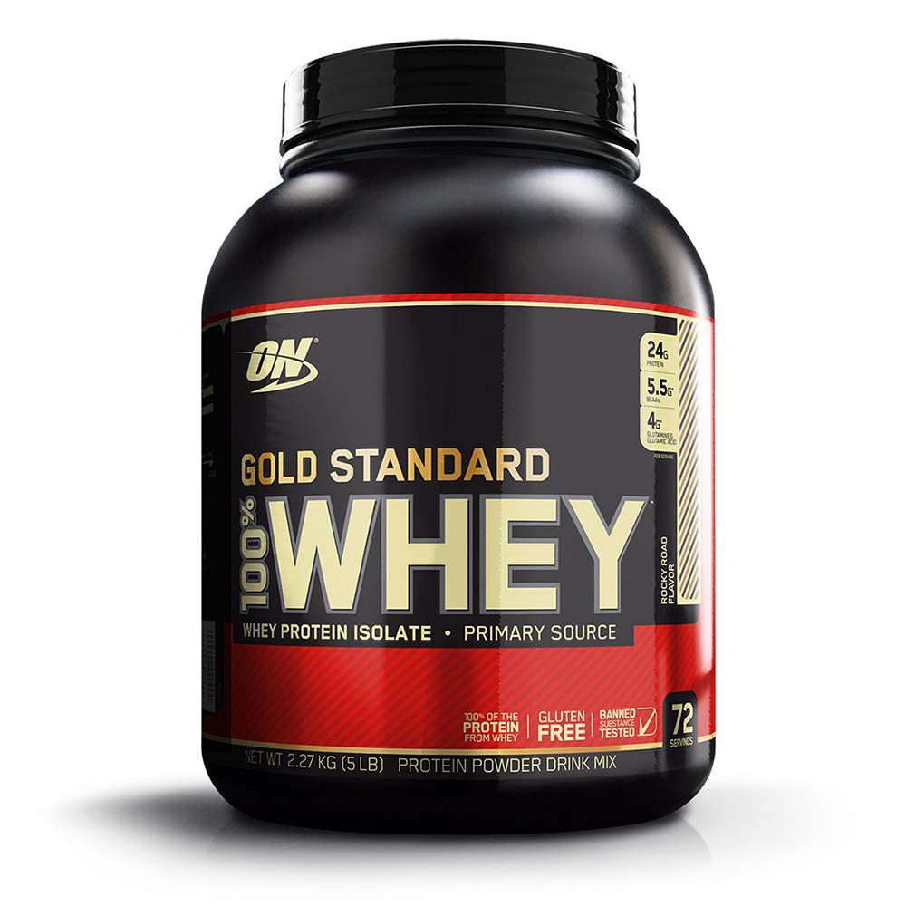 WHEY GOLD STANDARD 2,270G (5LB) - OPTIMUM NUTRITION sabor Rock Road (Choco Crocante)
