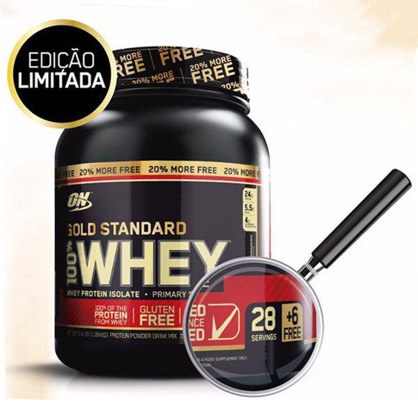 WHEY PROTEIN GOLD STANDARD 1088KG (2,4LB/20%Free)  - OPTIMUM NUTRITION