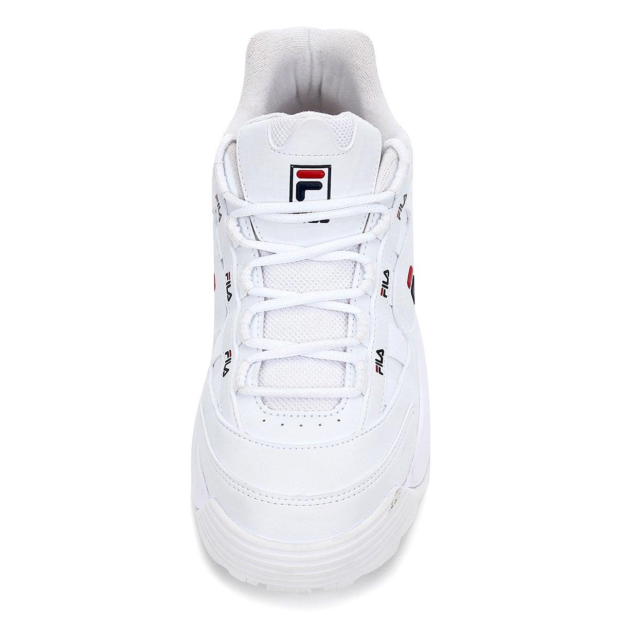 Tênis Fila D-Formation Feminino Branco/Vermelho