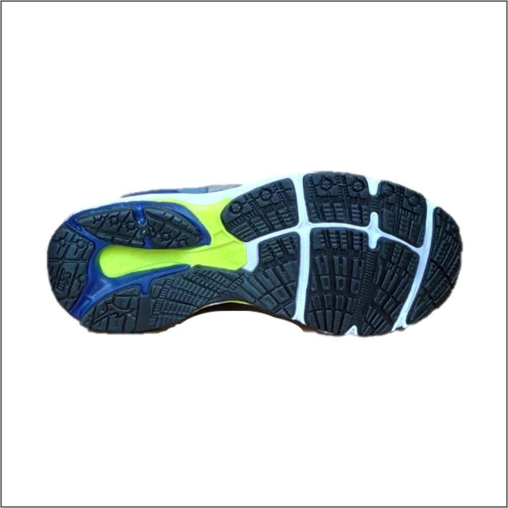 Tênis Mizuno Wave Mirai 3 Cinza/Azul + 3 pares de meia hoahi