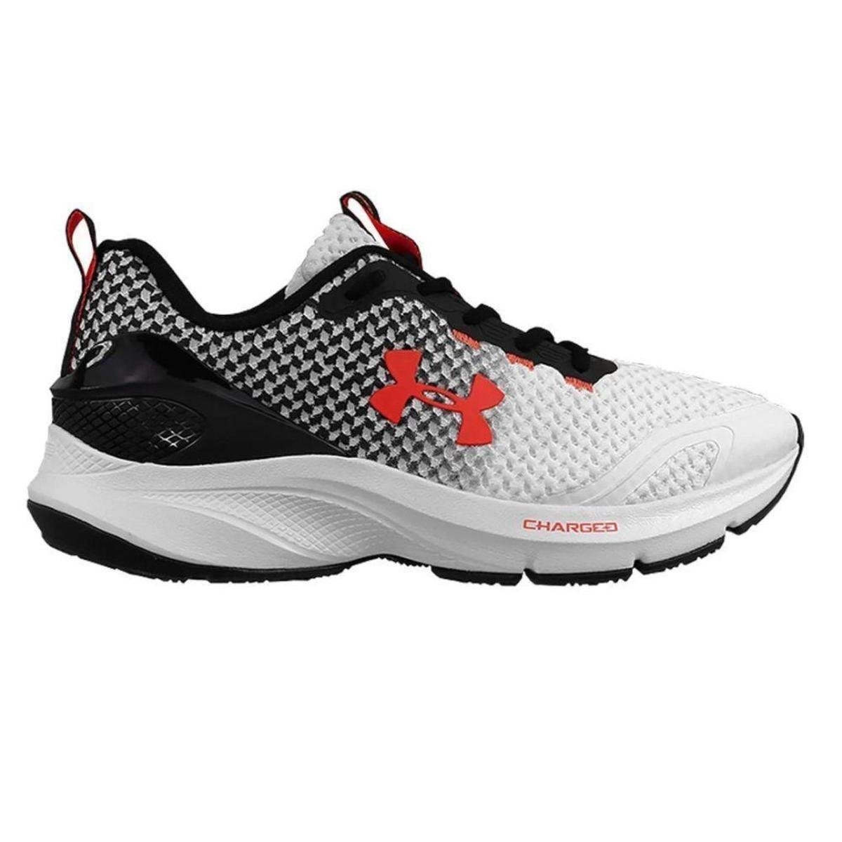 Tenis Under Armour Charged Prompt - Branco/Preto