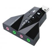 Adaptador Placa de Som USB 7.1 entrada P2 (fone e microfone) MLW-93CK