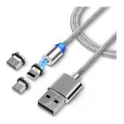Cabo USB 3 em 1 Resistente de alta qualidade 2.4A 1 metro Átomo