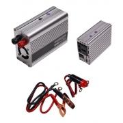Inversor Tensão 500w 12v Para 220v Veicular Transformador Conversor Com Tomada Padrão e Usb